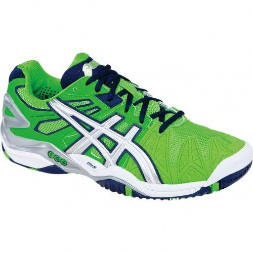 Asics GEL-Resolution 5 Mens Tennis Shoes E300Y.7093 Neon Green-Lightning-