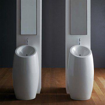 Colonna - Fritstående håndvask i rundt design med lækre bløde linjer