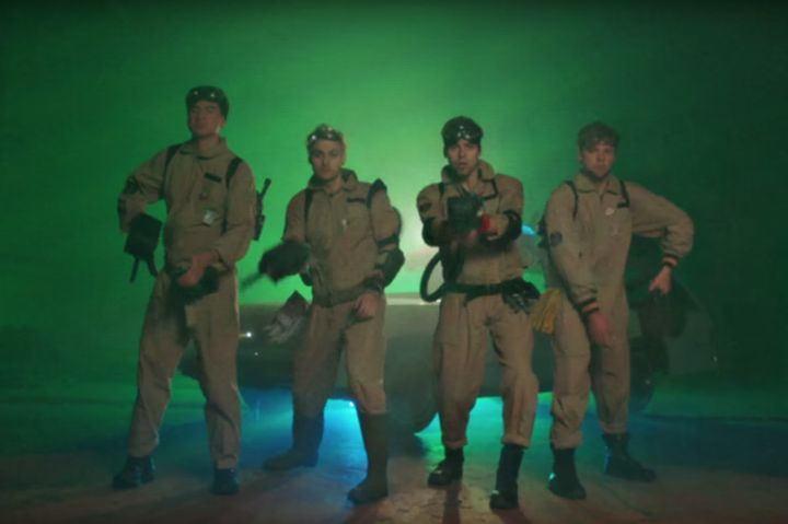 5 Seconds of Summer's Ghostbusters music video bows at the feet of Spike Jonze -> http://www.theverge.com/2016/7/22/12256418/ghostbusters-5-seconds-of-summer-girls-talk-boys  Officially knighted by One Direction  which has been on a slow Alka Seltzer dissolve for the last six months  Australian boy band 5 Seconds of Summer is the new cream of the crop when it comes to Pixy Stix-swilling boy bands who play guitar music and aren't shy about pastiche. As such they've recorded a song for the…