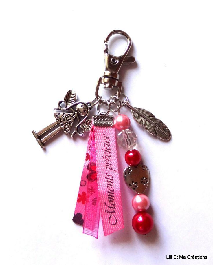 """Bijou de sac, porte-clés Grigri Lili et Ma Créations """"Moments Précieux Fée"""" : Autres bijoux par lili-et-ma-creations"""