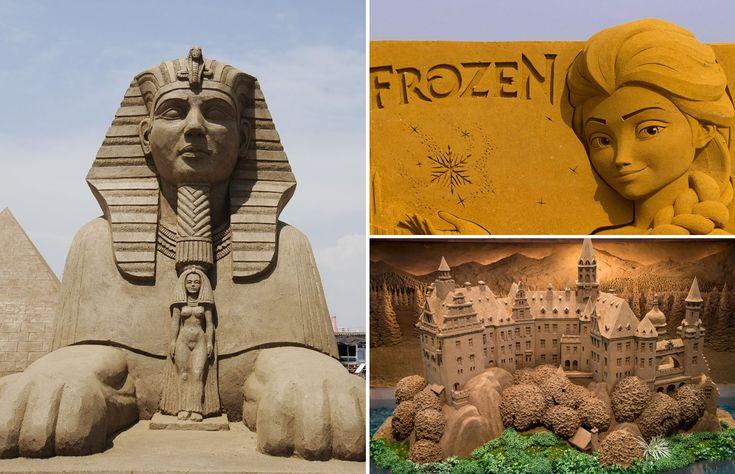 Невероятные скульптуры из песка