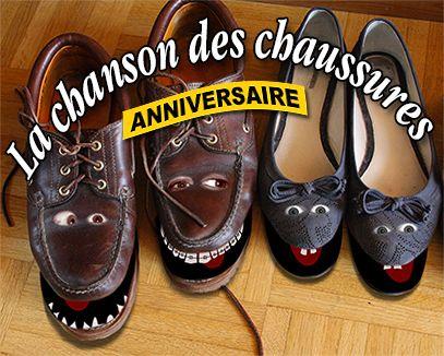 La chanson des chaussures, une carte d'anniversaire chantée et animée : http://tous-mes-voeux.com/carte-2-124-anniversaire-la-chanson-des-chaussures