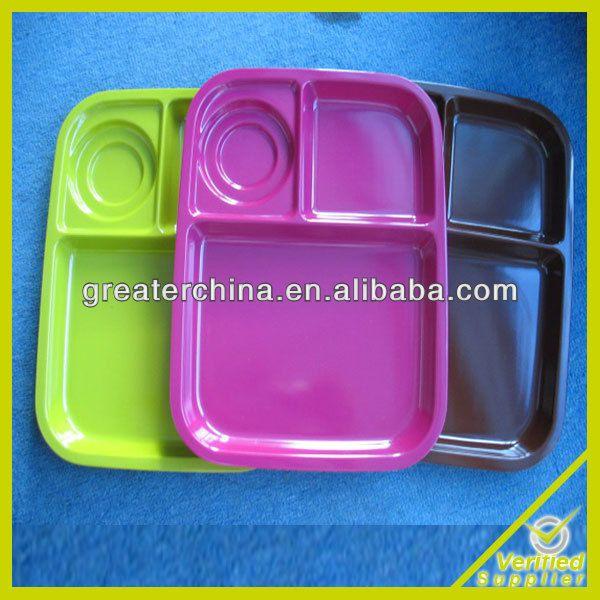 Adult Portion Control Plate ,Melamine Adult Portion Control Plate,Melamine solid color without any logo plate $0.9~$3