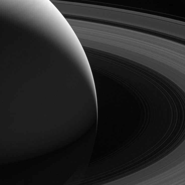 The Grace of Saturn Saturn's graceful lanes of orbiting ice -- its iconic rings -- wind their way around the planet to pass beyond the horizon in this view from NASA's Cassini spacecraft.