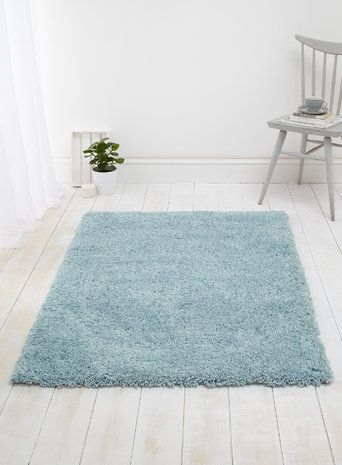 BHS Duck Egg or Pale Grey Supersoft Shaggy 100x150cm £59.99 sale - rug for spare room