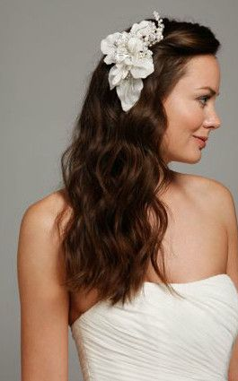 Floral Headpiece with Pearls and Crystals Style C9048  davidsbridal   headpiece  weddingaccessories  339e3f29605