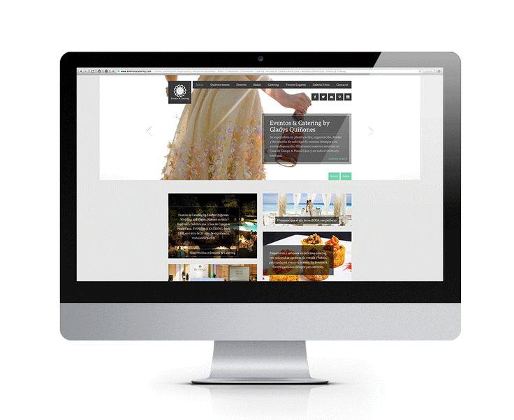 Diseño web para Eventos & Catering - Empresa especializada en organización, planificación y decoración de todo tipo de eventos y bodas en República Dominicana