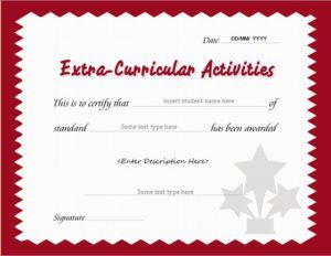 Extracurricular activity award certificate template for MS Word DOWNLOAD at http://certificatesinn.com/extracurricular-activities-award-certificates/