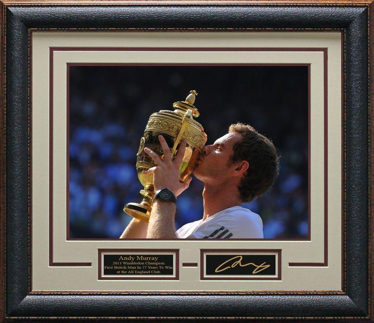 Andy Murray 2013 Wimbledon Champion Framed Photo   Unsigned Photo Framed, Andy Murray Memorabilia