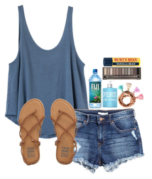 """""""»«Your Incredibly Beautiful»«"""" by simply-natalee ❤ liked on Polyvore featuring RVCA, H&M, Victoria's Secret PINK, Gold & Gray, Urban Decay, Burt's Bees and Billabong"""