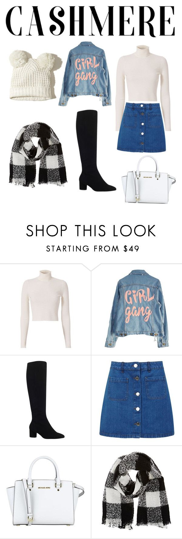 """Winter"" by jiaghag ❤ liked on Polyvore featuring A.L.C., High Heels Suicide, Kurt Geiger, Miss Selfridge, MICHAEL Michael Kors, Barneys New York and Hollister Co."