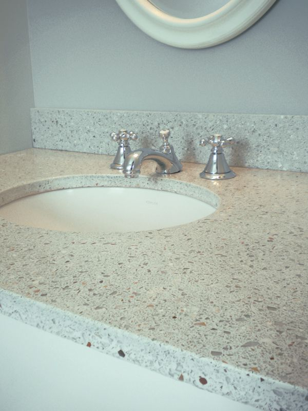 23 best images about countertop ideas on pinterest for Crushed glass countertops