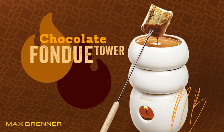 Experience Max's Chocolate Fondue Tower.  Dip perfectly roasted marshmallows, cookies and fruit into melted milk, dark or white chocolate.