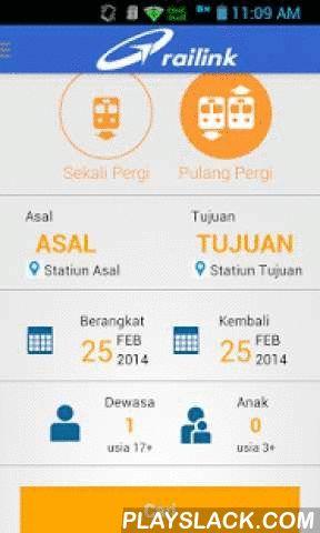 Railink  Android App - playslack.com , Aplikasi Android Resmi persembahan PT Railink, operator layanan transportasi terpadu (kereta/railway) yang menghubungkan bandara dengan pusat-kota di Indonesia.Aplikasi ini memberi kemudahan bagi masyarakat untuk melakukan pemesanan tiket Railink dimanapun dan kapanpun. Pengguna aplikasi dapat mencari jadwal kereta yang pas dengan jadwal penerbangan dan langsung melakukan pemesanan hingga pembelian secara online. Pemesanan melalui aplikasi ini terhubung…