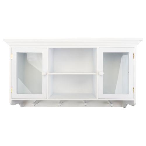 EUR12,95 - wandkast met glazen deuren wit