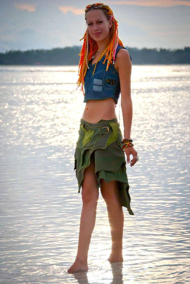 Cyber playa wear burning man festival girl fashion burner women skirt