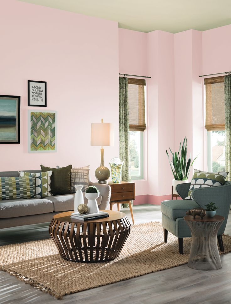 PINK: Empowered, the newly sophisticated color can be seen transcending design styles for all homes.Here's a few ways to embrace the millennial pink! Hadley Court Interior Design | Shades of Pink | Living rooms | Bathrooms | Pink velvet | Pink Couch | Pink Curtains | Pink Tub | Pink Walls | Flowers