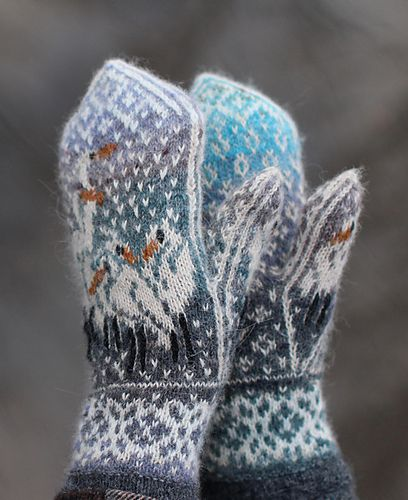 Ravelry: Herons In the Snow pattern by Natalia Moreva