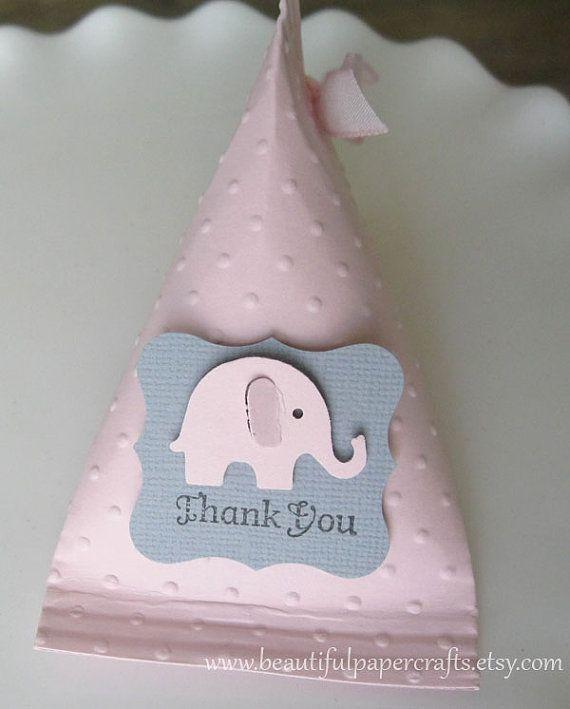 Elefante grigi e rosa Baby doccia favori - favori festa di compleanno...set di 12