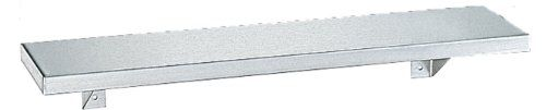 "#Stainless #steel shelf. 18-gauge (1.2mm), type 304 stainless steel, satin finish. 3/4"" (19mm) Return edge; front edge is hemmed for safety. Brackets are 16-gauge..."