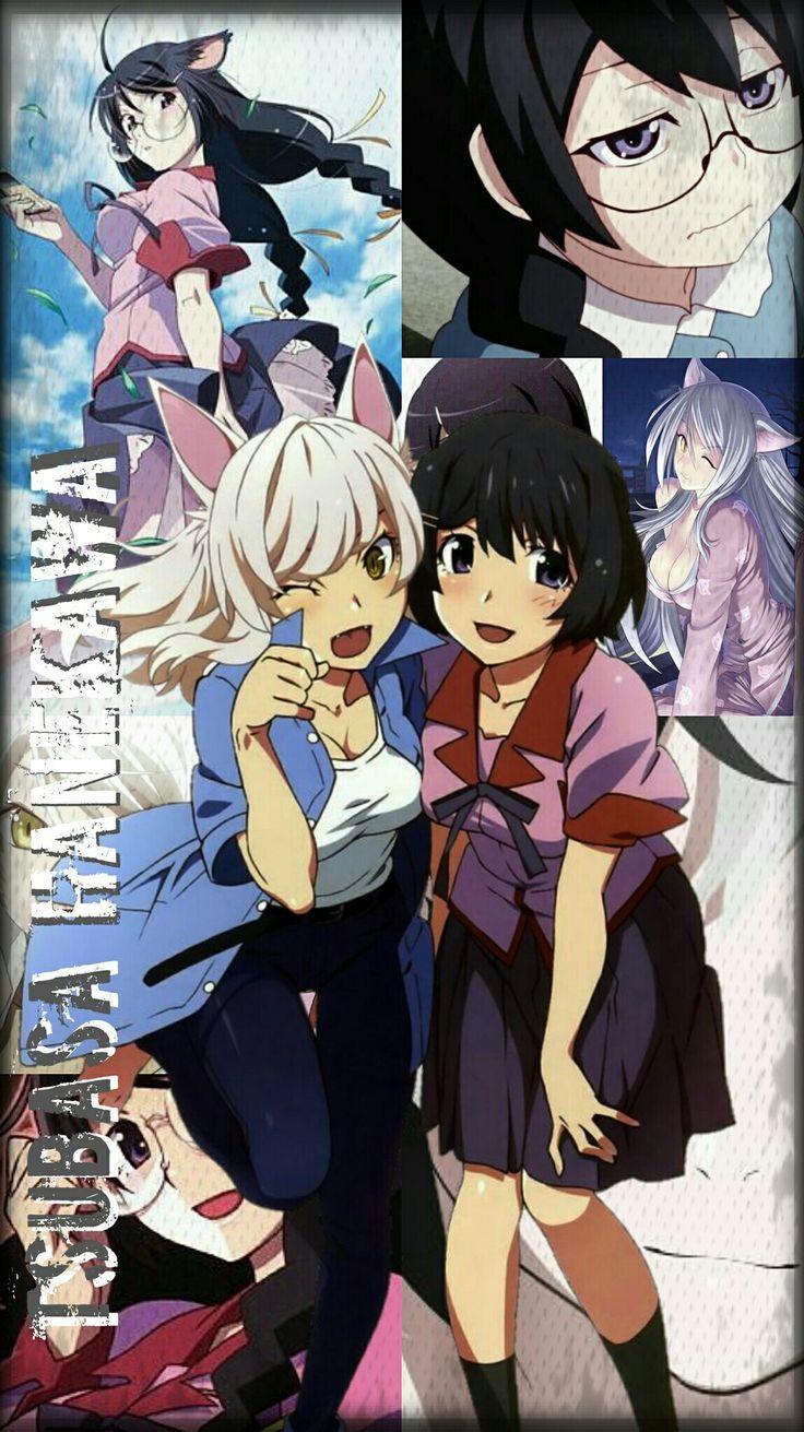 Tsubasa Hanekawa Monogatari Series Anime fondos