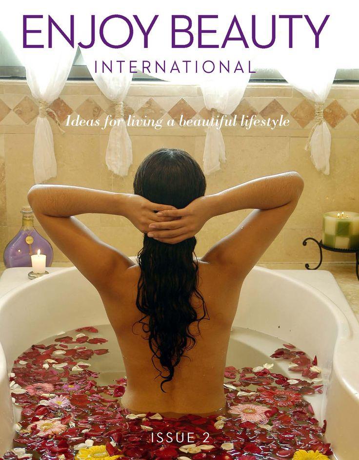 Enjoy Beauty International magazine covers: The Zen of Walking – A Chicago Fashion Shoot – Australia's Green Cauldron – Travel Trends – Haute Beauty Picks