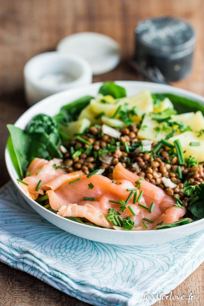 [Concours Reflets de France] Salade d'Épinards, Lentilles, Pommes de terre et…