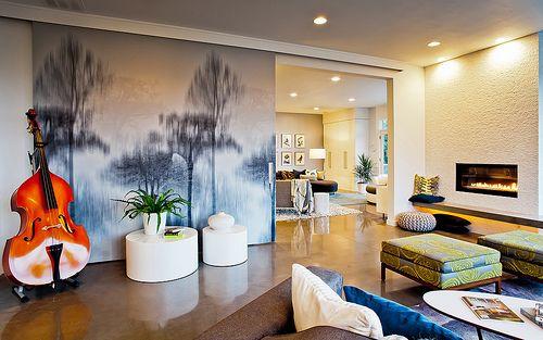 Vidabelo Interior Designs Shannon Ponciano Urban ID Studios Portland Oregon Great Room Sliding Wall
