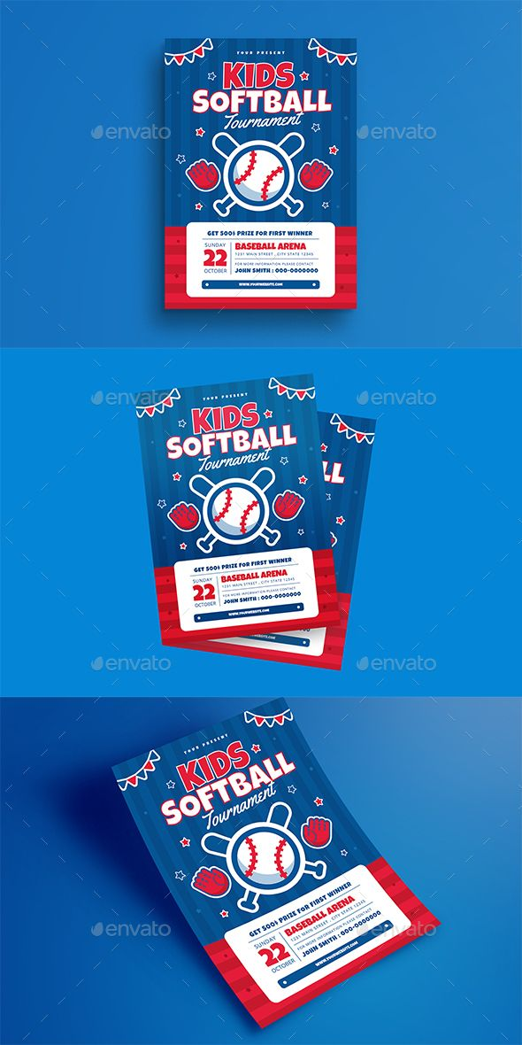 kids softball tournament flyer sports events flyer pinterest