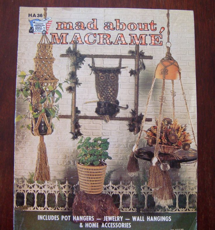 Mad About Macrame, Instructions Includes Owls, Pot Hangers, Jewelry, Wall…
