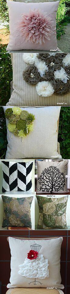 Очень красивые декоративные подушки с цветами. Идеи