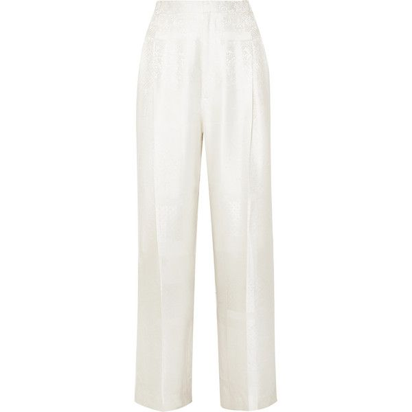 From China Online Satin-jacquard Pants - White Givenchy Reliable Cheap Price For Sale Online Store Sale Pay With Visa Genuine Zg02dloDs
