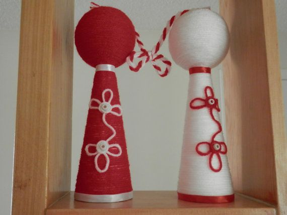 Martenitsa for decoration  to large fore by TheGiftofLovebyLili