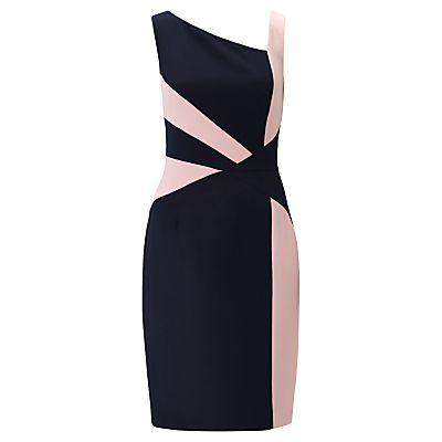 Adrianna Papell Colourblock Spliced Sheath Dress, Dusk