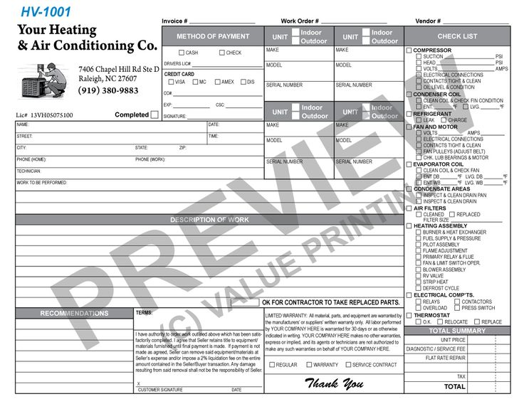 51 best HVAC Forms images on Pinterest Change to, Flat rate and - invoices forms