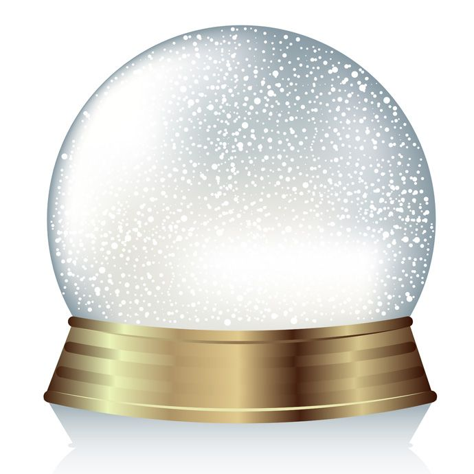 Cool Vector Snow Globe:):