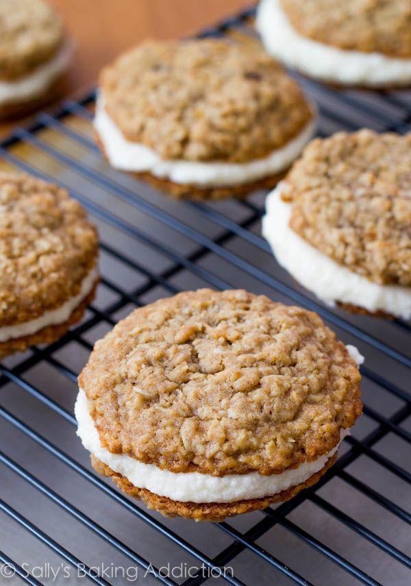 Homemade Little Debbie Oatmeal Creme Pies.