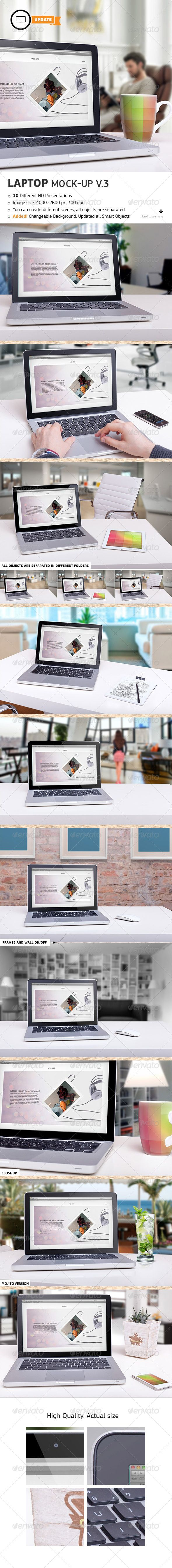 10 Laptop Mock-ups Vol.3 - Laptop Displays