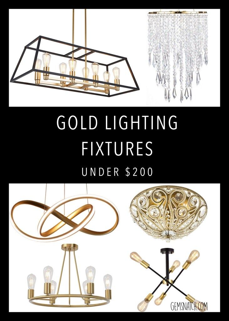 Gorgeous Gold Lighting Fixtures Under 200 Gold Light Fixture Modern Crystal Chandelier Gold Ceiling Light