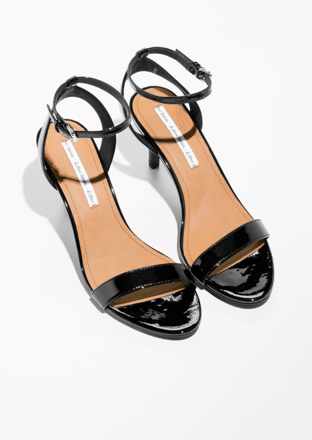 & Other Stories image 2 of Two-Strap Sandalette in Black