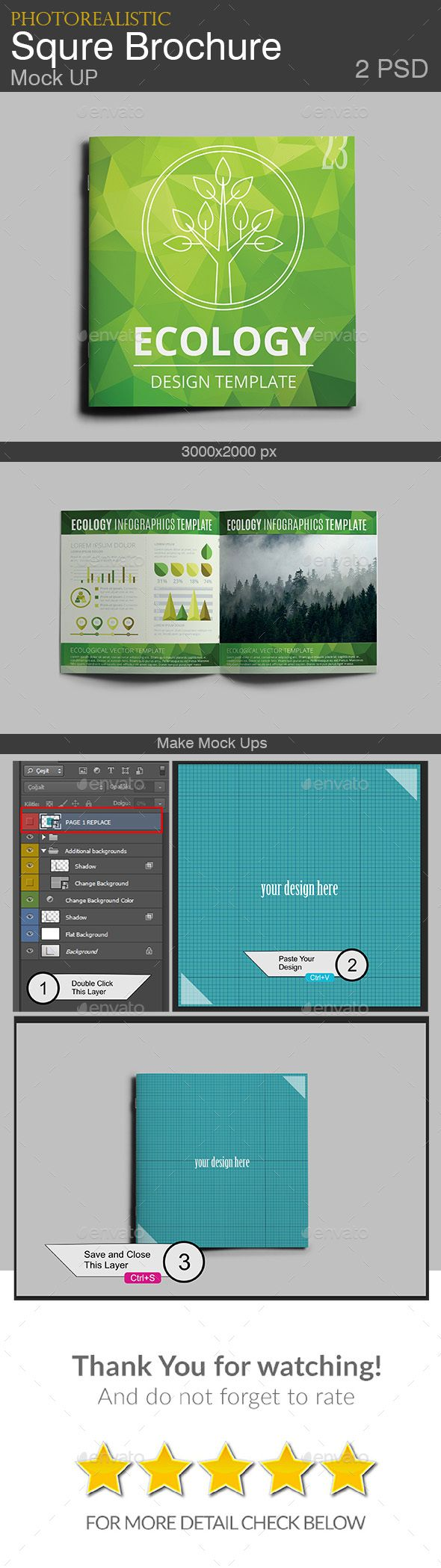 Square Mock up / Brochure Template
