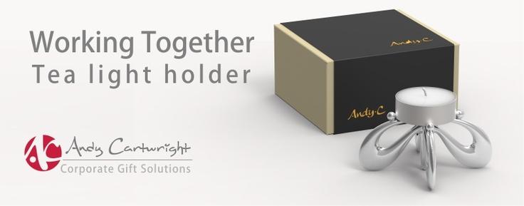 Working together tea-light holder.  A popular team-building must!