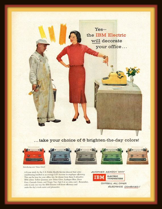 1956 IBM Electric Typewriters in Attractive by catchingcanaries