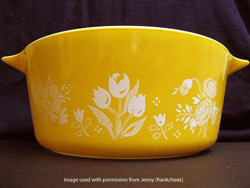 Bright Yellow Pyrex...this one is on my wish list for Kaitie's hope chest