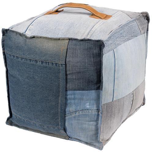 pouf recycled denim (40x40x40)