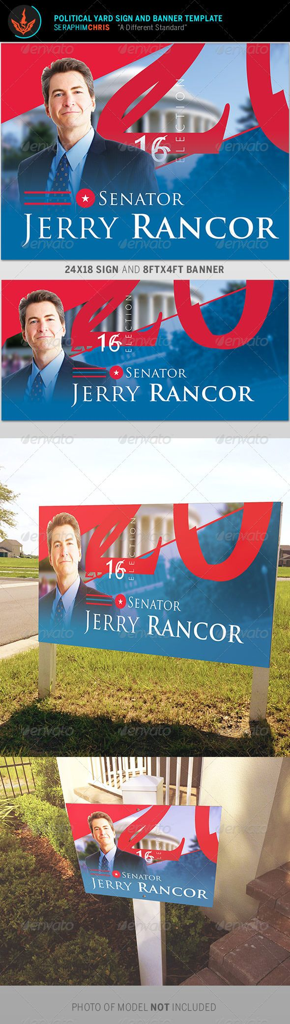 With this Political Yard Sign and Banner Template you'll have the highest quality presentation. This file customized for ease of use and is exclusive to graphicriver.net