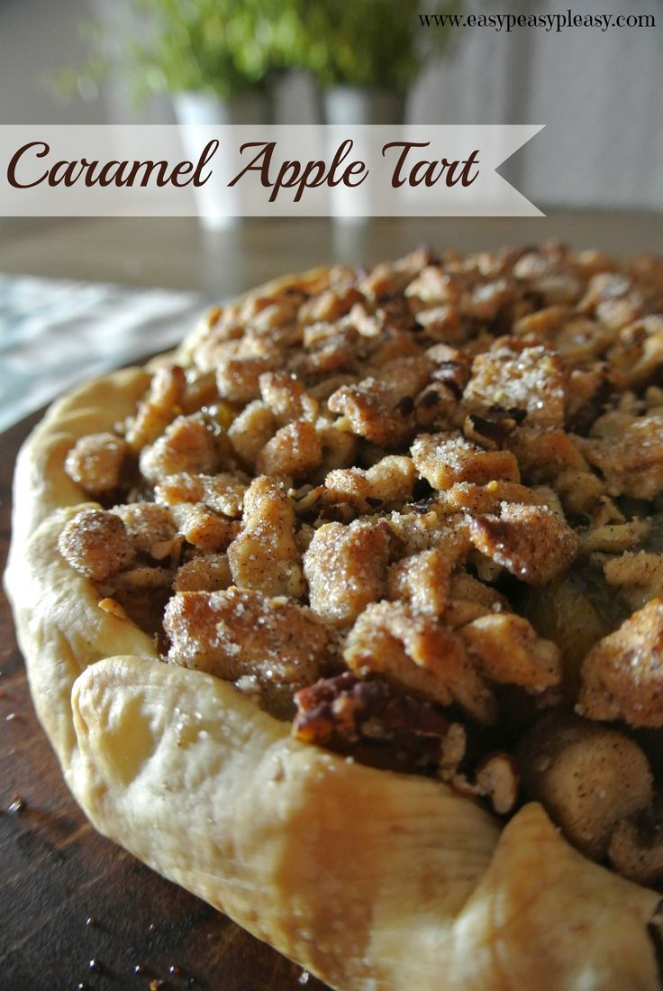 Easy 5 Ingredient Caramel Apple Tart is the perfect addition to any holiday gathering.