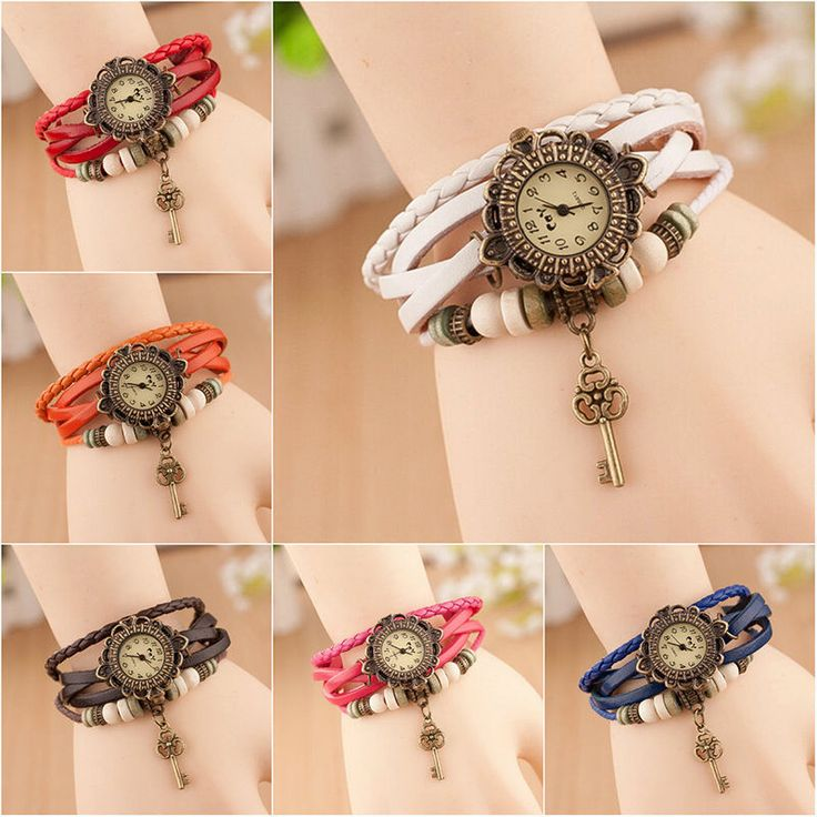 Reloj De Pulsera Mujer Cuero Abalorios Cuarzo Brazalete Mariposa Vintage Watches FOR SALE • EUR 1,00 • See Photos! Money Back Guarantee. Description 100% Brand New. Material: Mix 7 Colors Available Dial Plate Diameter:26mm. Dial Plate Thickness:6mm Watch Strap: Length 210mm, Width 13mm Weight: 22g. Used for gift-giving occasions: tourism, wedding, employee 331721719817