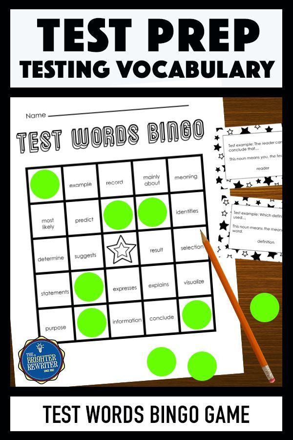 Testing Vocabulary Bingo