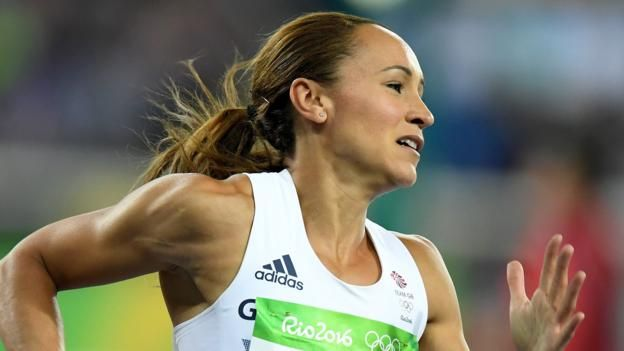 Great Britain's Jessica Ennis-Hill is in gold-medal position, with compatriot Katarina Johnson-Thompson fourth, after a see-saw first day of the heptathlon at the Olympic Games in Rio.